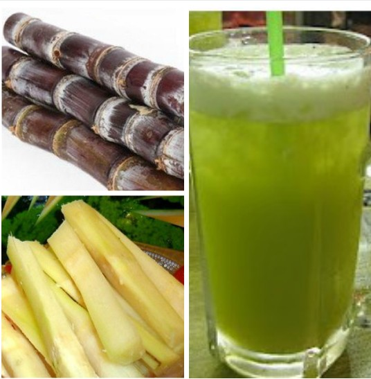 fresh sugarcane juice made by sugarcane juice extractor