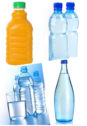bottled water and juice packed by Azeus filling machine