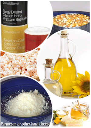 ingredients for making honey popcorn
