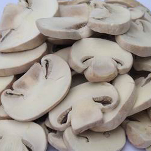 mushroom slices processed by mushroom slicing machine