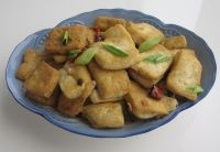 finished spicy fried tofu