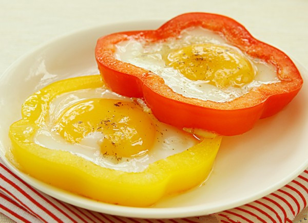 bell pepper fried eggs