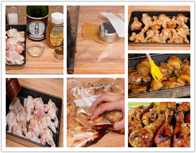 the_process_of_cooking_Honey_Soy_Sauce_Chicken