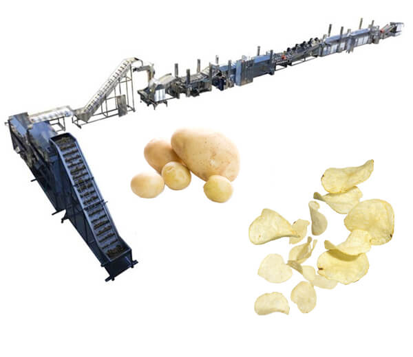 100kg per hour automatic potato chips processing line