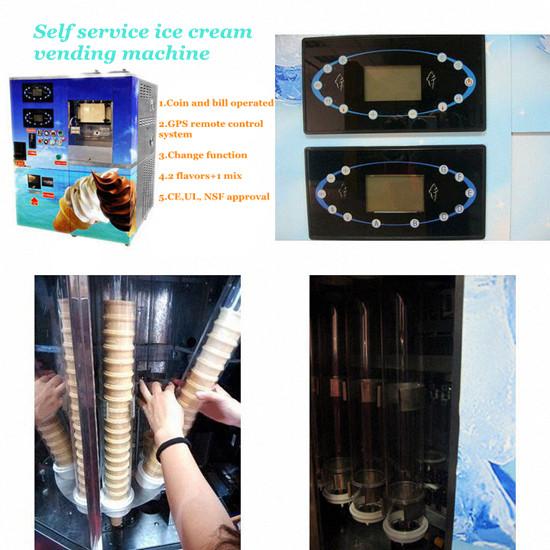 Automatic Soft Icecream Vending Machine Features