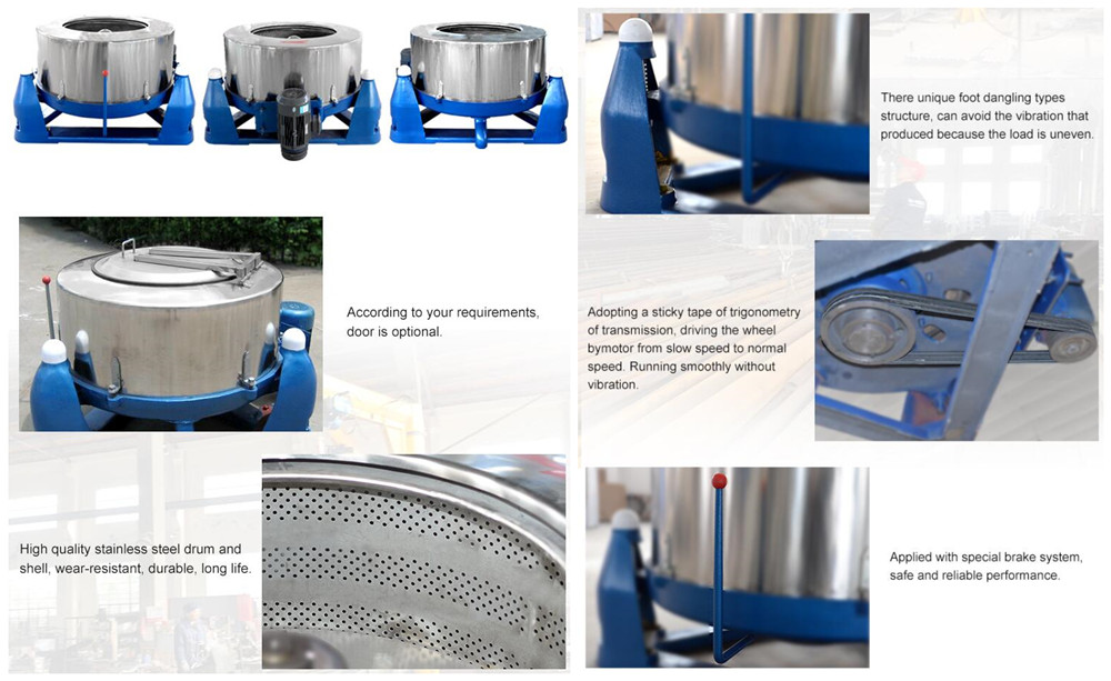 Centrifugal Dehydration Machine Features
