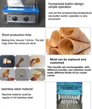 Feature of Ice Cream Cone Making Machine