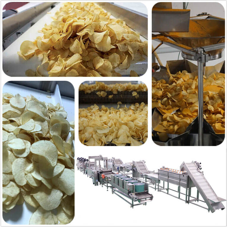 Full-automatic Potato Chips Production Line Introduction