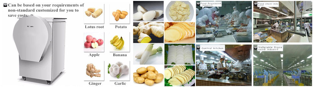 Garlic Ginger Slicing Machine Application