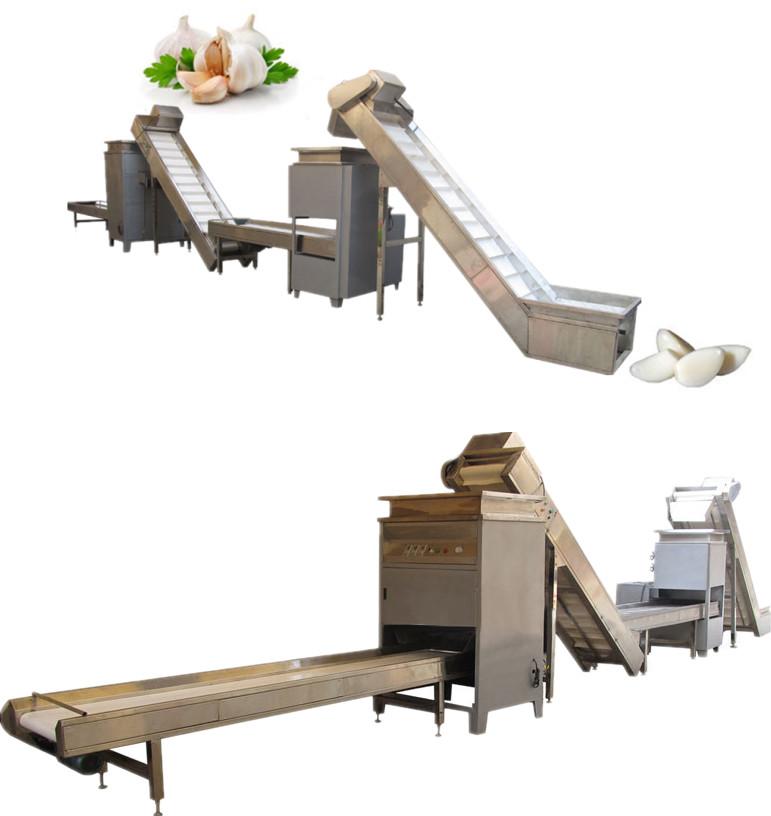 Garlic Separating and Peeling Production Line Introduction