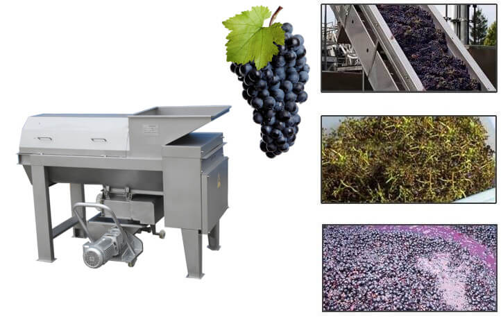 Good price grape crusher destemmer