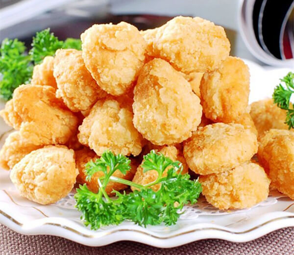 How do you pan fry popcorn chicken
