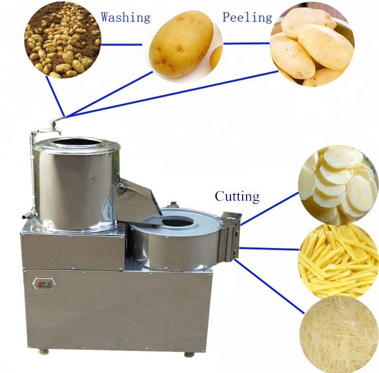 Introduction of Potato Peeling Slicing Stripping Machine