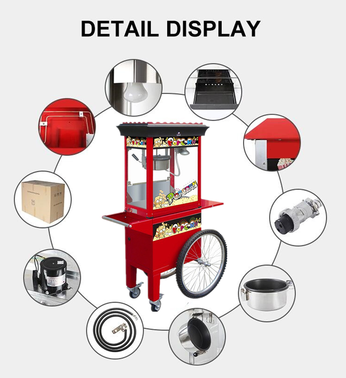 Kettle Popcorn Machine Design Features