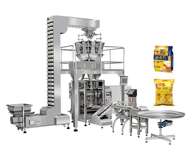 Large vertical automatic pouch packing machine