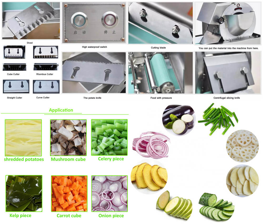 Multi-function Vegetable Cutter Machine Features & Applicatons