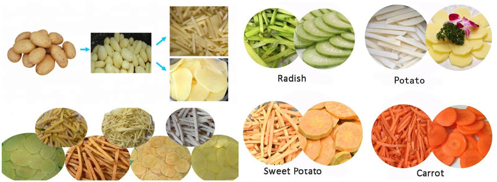 Potato Peeling and Cutting Machine Applications