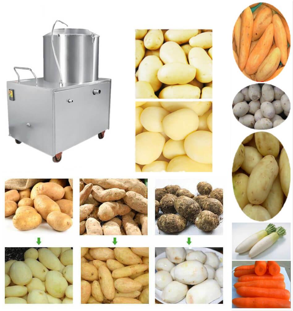 Potato Washing and Peeling Machine Applications
