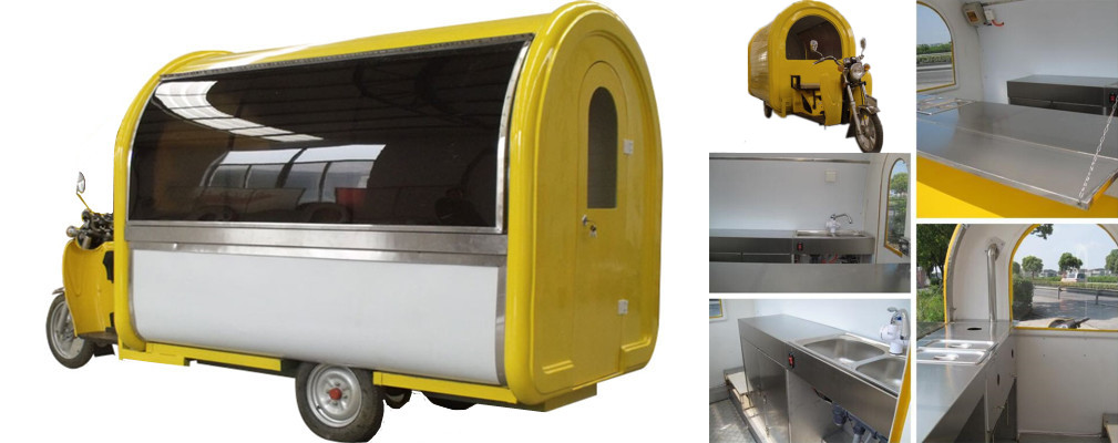 Some detailed information about the three-wheeled electric mobile food cart