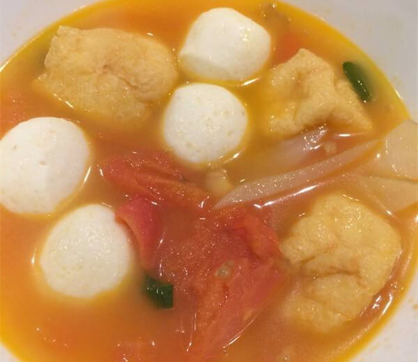 Tomato-ginger Fish Ball Soup