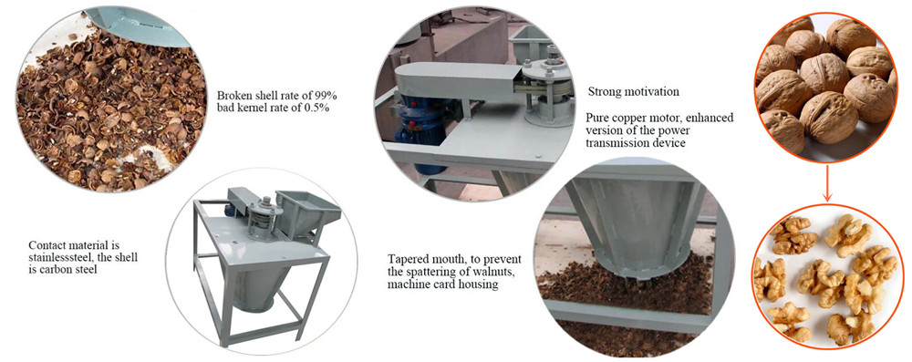 Walnut Shelling Equipment Advantages