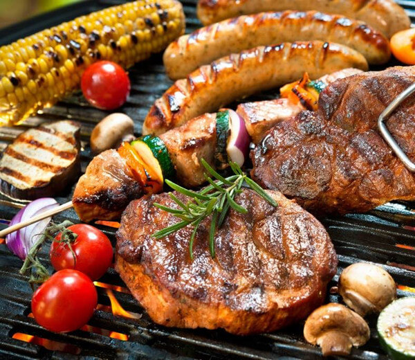 bbq in the open air