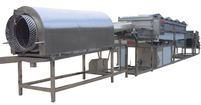 canned peach processing line