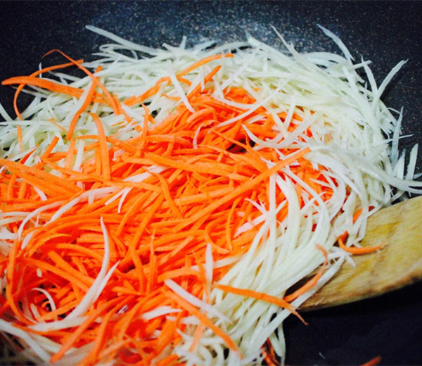 stir fry curry potato carrot strips