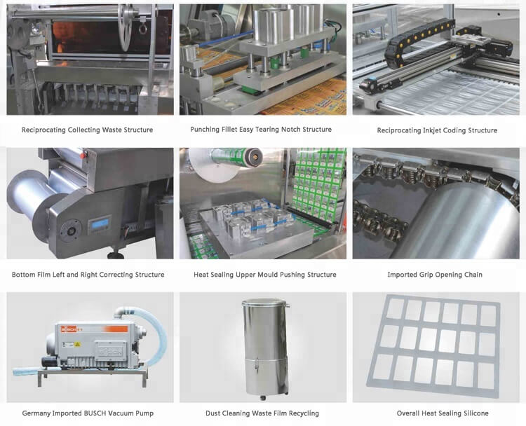 detailed structure of fully automatic vacuum packing machine