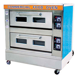 electric deck oven 2 layers 4 trays