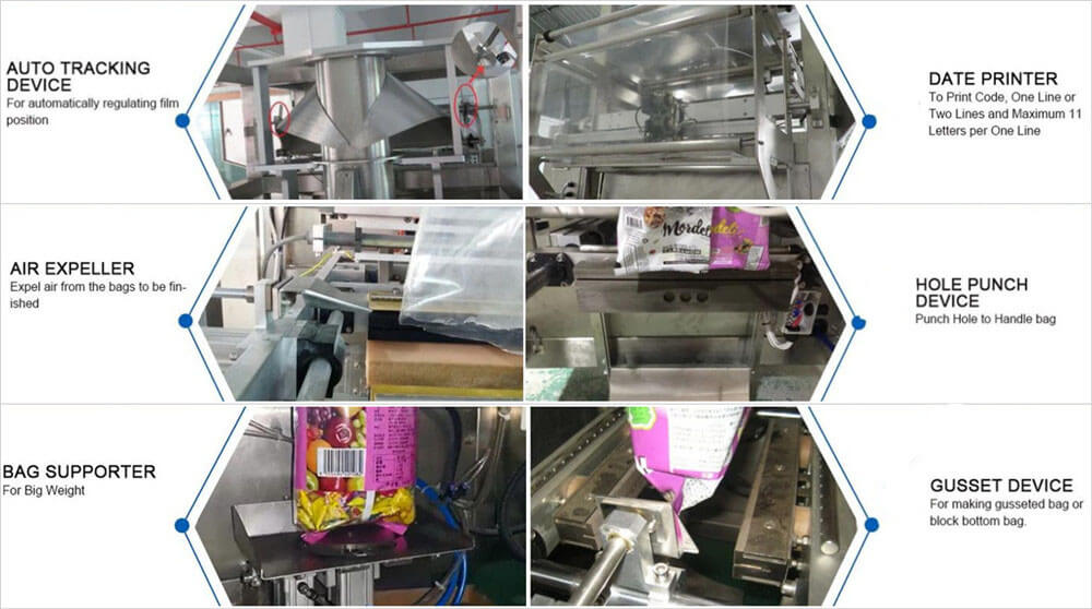 features of automatic powder vertical packing machine