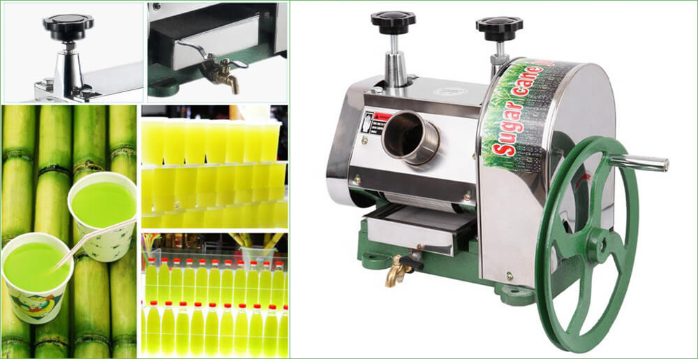 Manual Sugarcane Juice Extractor Makes 100 Natural Sugarcane Juice