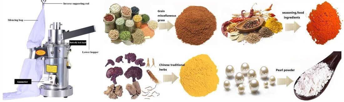 mini spice grinding machine application