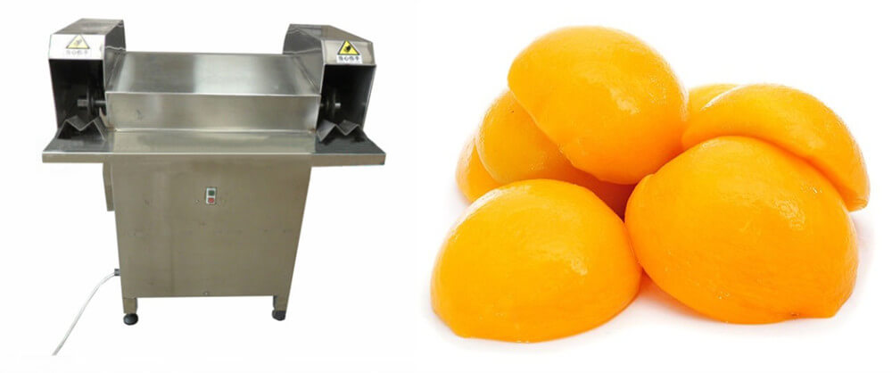 peach splitting machine for cutting peach halves