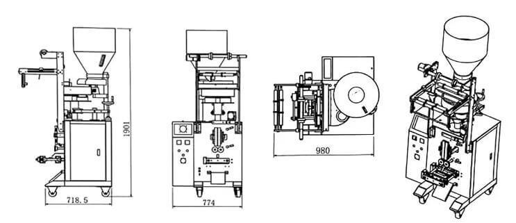 puffed snack packing machine parameter