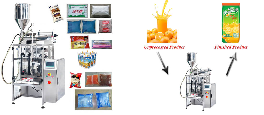 sauce liquid automatic vertical packing machine