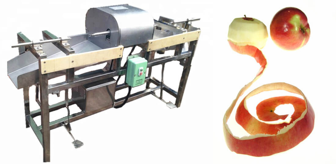semiautomatic apple peeling machine
