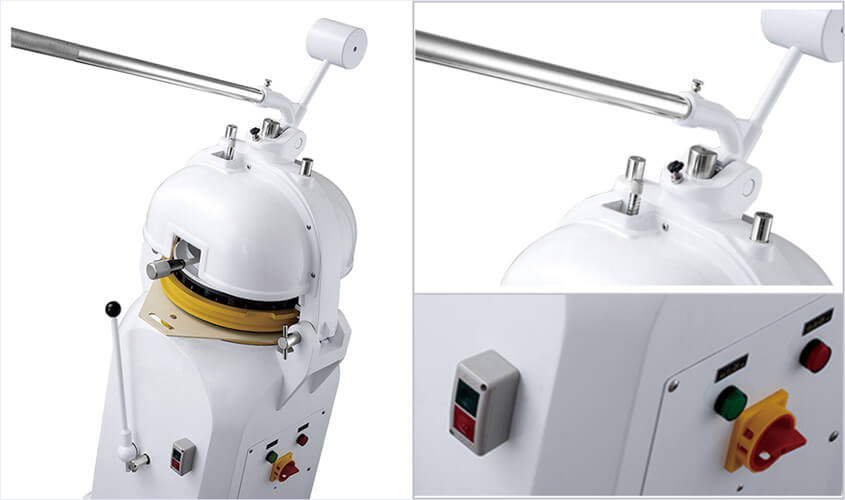 semiautomatic dough divider and rounder machine details