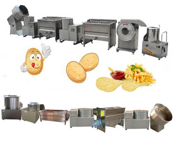 small potato chips making machines unit