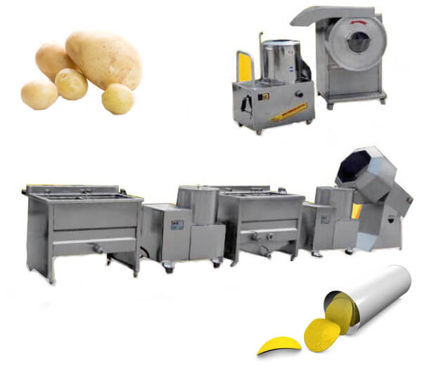 small potato chips making machines