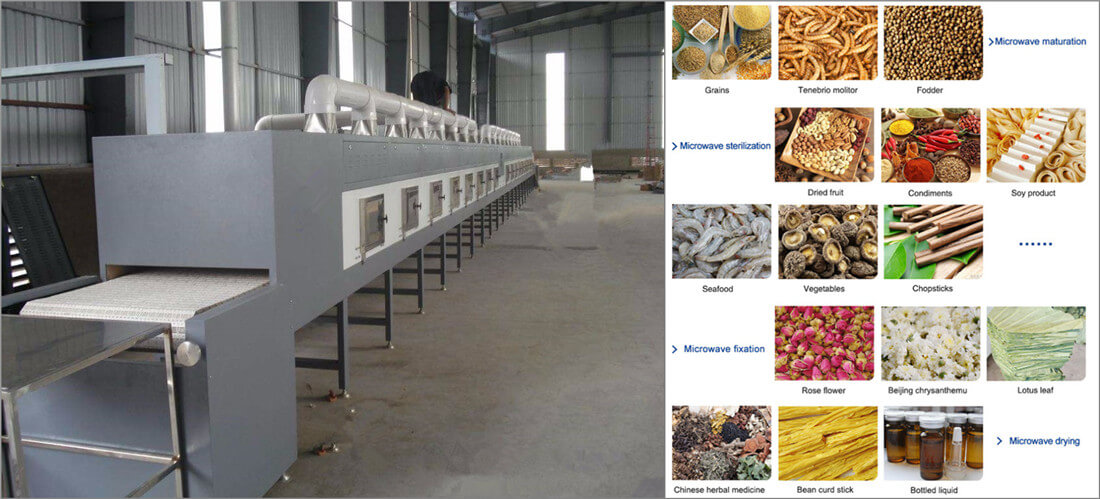 stainless steel microwave drying sterilization equipment