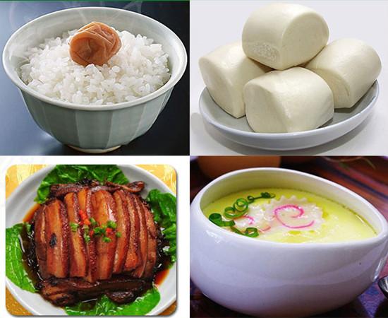 steamed food